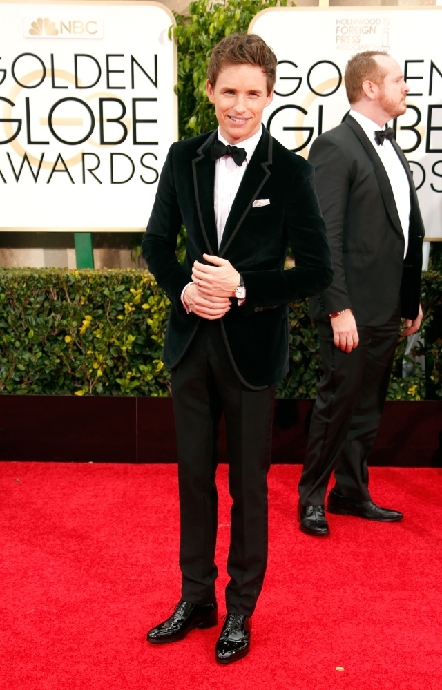 BEVERLY HILLS, CA - JANUARY 11:  Actor Eddie Redmayne attends the 72nd Annual Golden Globe Awards at The Beverly Hilton Hotel on January 11, 2015 in Beverly Hills, California.  (Photo by Jeff Vespa/WireImage)